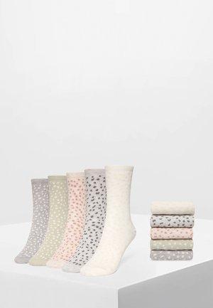 5 PACK - Sokken - off-white/grey/red