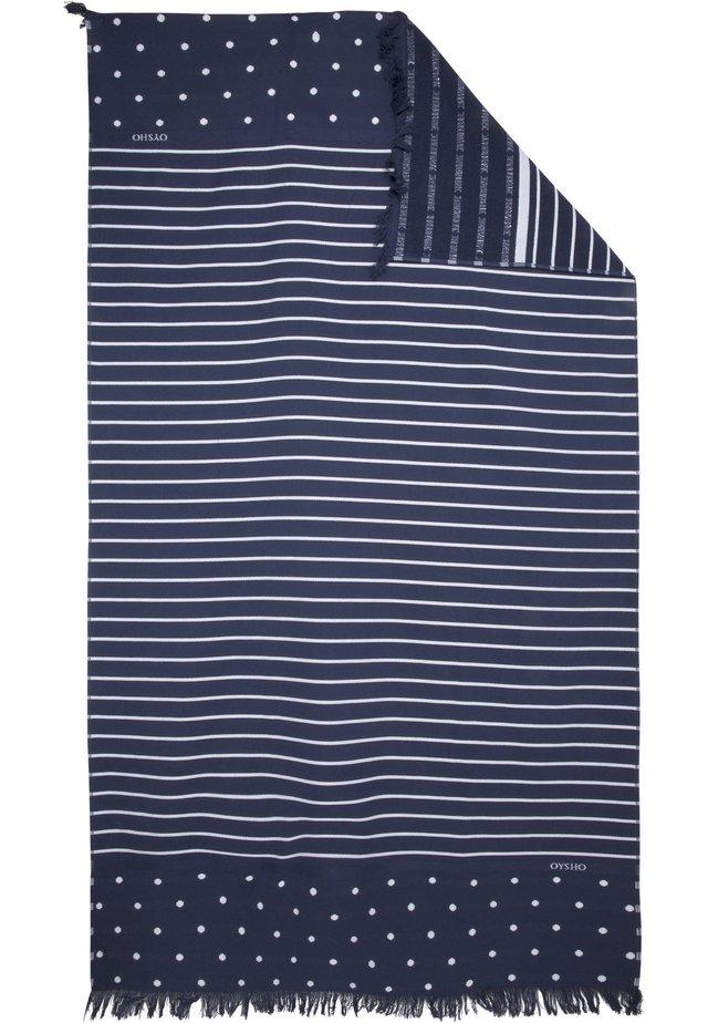 HANDTUCH IM MARITIMEN DESIGN 30833439 - Beach towel - dark blue