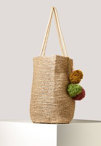 OYSHO - SHOPPER MIT POMPONS 14221580 - Shopper - brown - 3
