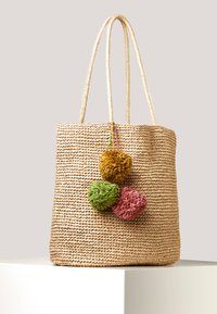 OYSHO - SHOPPER MIT POMPONS 14221580 - Shopper - brown - 2