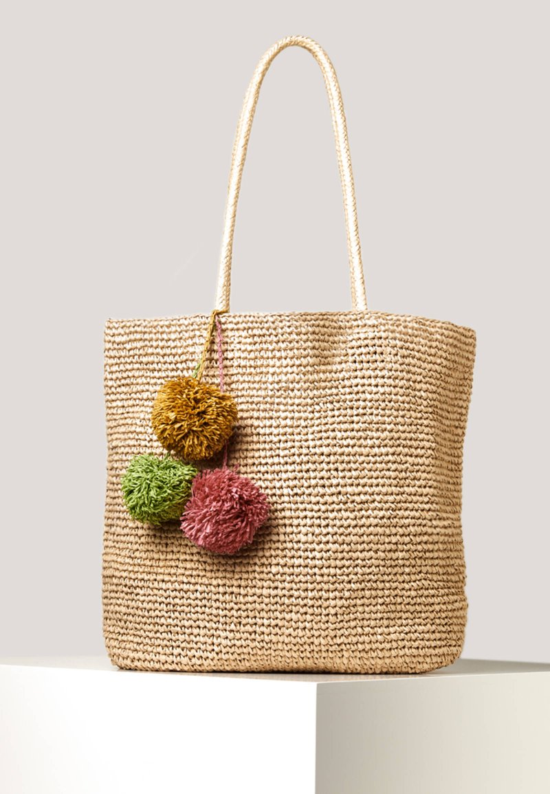 OYSHO - SHOPPER MIT POMPONS 14221580 - Shopper - brown