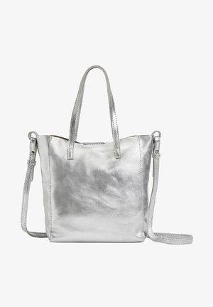 METALLIC LEATHER MINI SHOPPER - Handtasche - silver