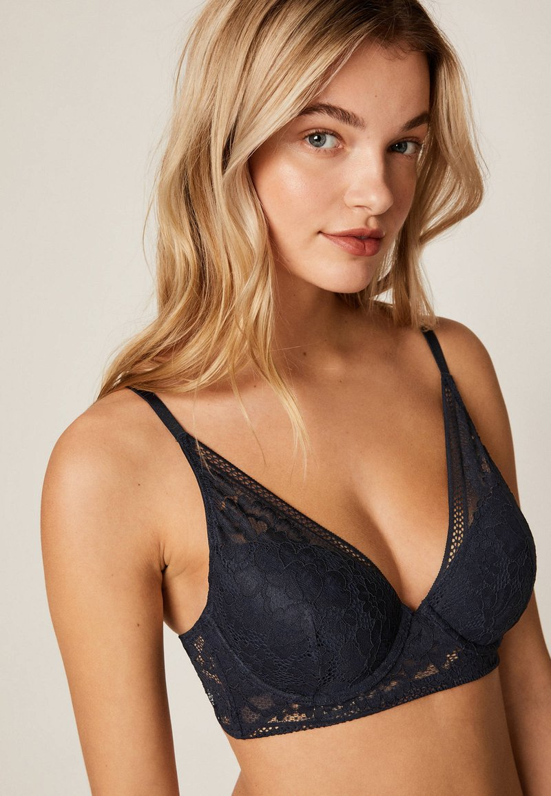 OYSHO - Push-up BH - dark blue