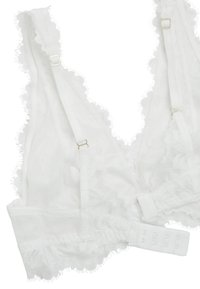 OYSHO - MIT FLORALER SPITZE - Triangel BH - white - 6
