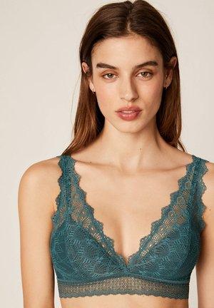 Trojúhelníková podprsenka - turquoise