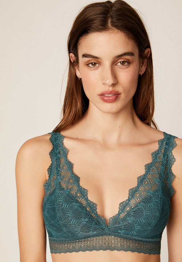 Soutien-gorge triangle - turquoise