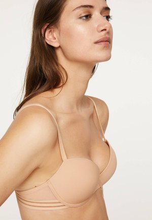 MIKROFASER-BH MIT LEICHTER WATTIERUNG 30111577 - Podprsenka skosticemi - nude
