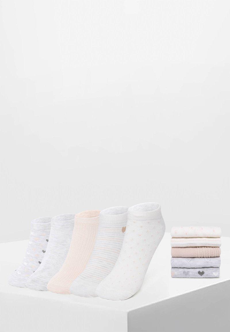 OYSHO - 5 PACK - Sportovní ponožky - white