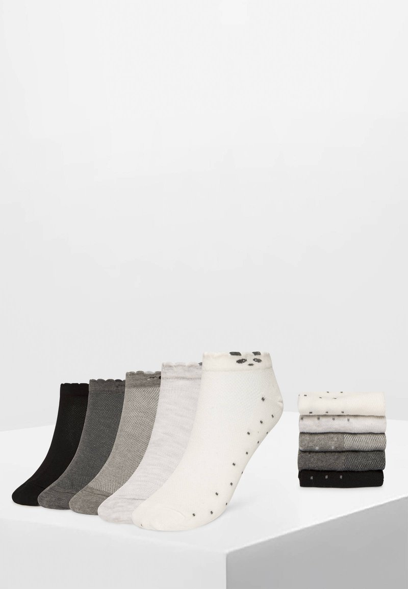 OYSHO - 5 PAAR SNEAKERSOCKEN MIT TIERMOTIVEN 32677488 - Sokken - white