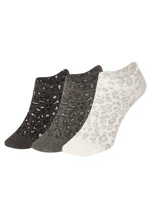 3 PAAR SNEAKERSOCKEN MIT TIERPRINT 32688487 - Socks - black