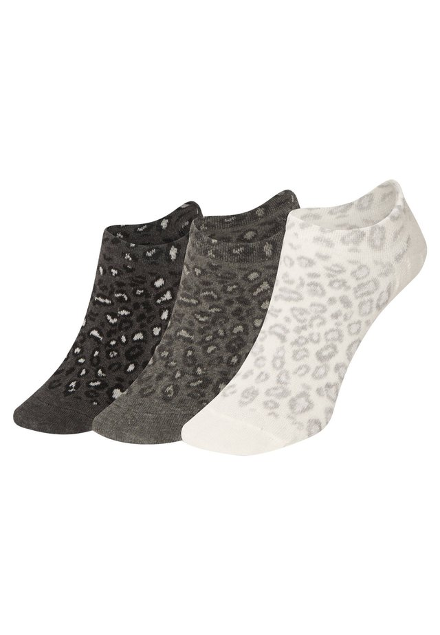 3 PAAR SNEAKERSOCKEN MIT TIERPRINT 32688487 - Strumpor - black