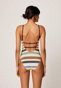 OYSHO - MIT STREIFEN - Swimsuit - off-white - 1