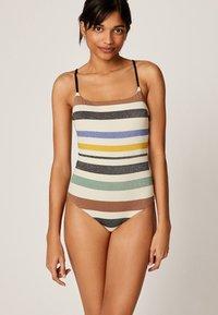 OYSHO - MIT STREIFEN - Swimsuit - off-white - 0