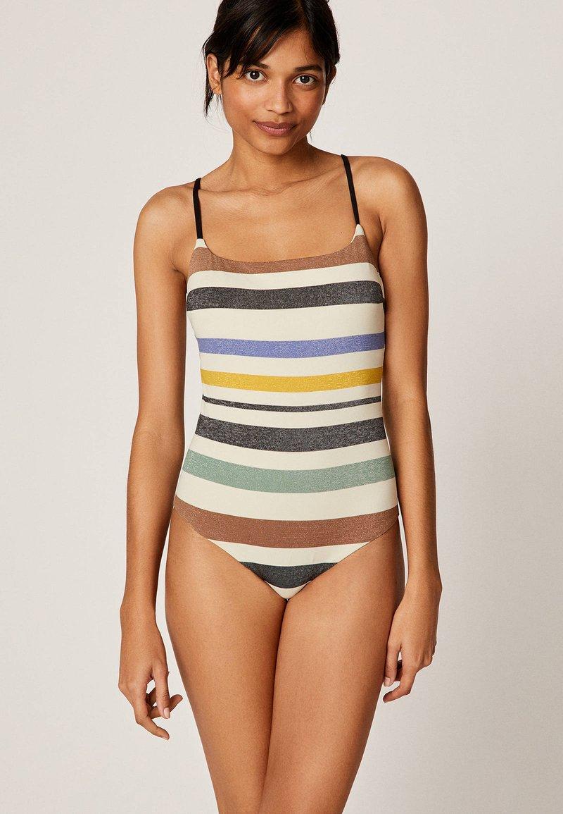 OYSHO - MIT STREIFEN - Swimsuit - off-white