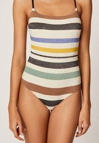 OYSHO - MIT STREIFEN - Swimsuit - off-white - 3