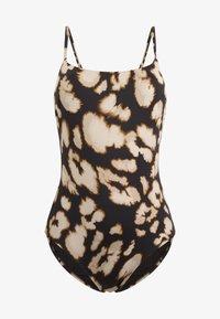 OYSHO - TRIANGEL-BADEANZUG MIT LEOPARDENPRINT 30745445 - Swimsuit - black - 4