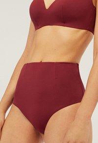 OYSHO - MIT HOHEM BUND  - Bikini bottoms - bordeaux - 2