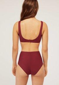 OYSHO - MIT HOHEM BUND  - Bikini bottoms - bordeaux - 1