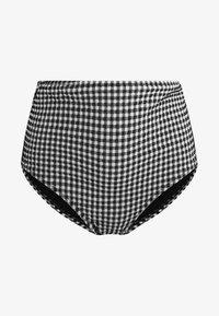 OYSHO - MIT VICHY-MUSTER  - Bikinibroekje - black - 6