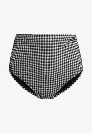 MIT VICHY-MUSTER  - Bas de bikini - black