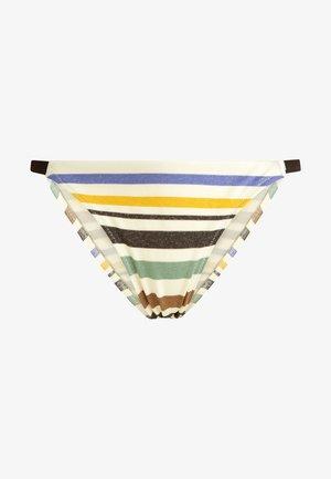 MIT GUMMIBUND UND STREIFEN - Bikini bottoms - off-white