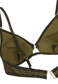 OYSHO - Bikini top - khaki - 6