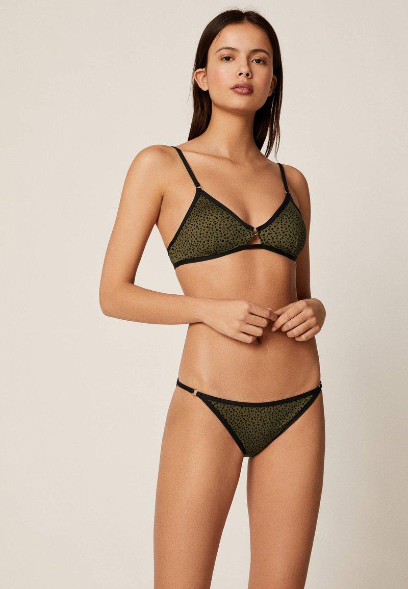 OYSHO - Bikini top - khaki