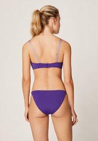 OYSHO - MIT BANDDETAILS - Bikini top - dark purple - 2