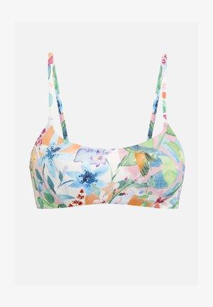 BIKINIOBERTEIL MIT BLUMEN 32440392 - Bikini top - white