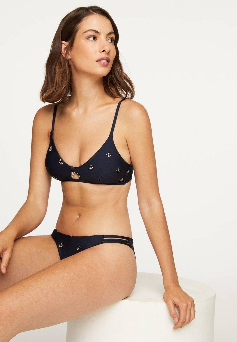 OYSHO - ANCHOR  - Bikinitop - dark blue