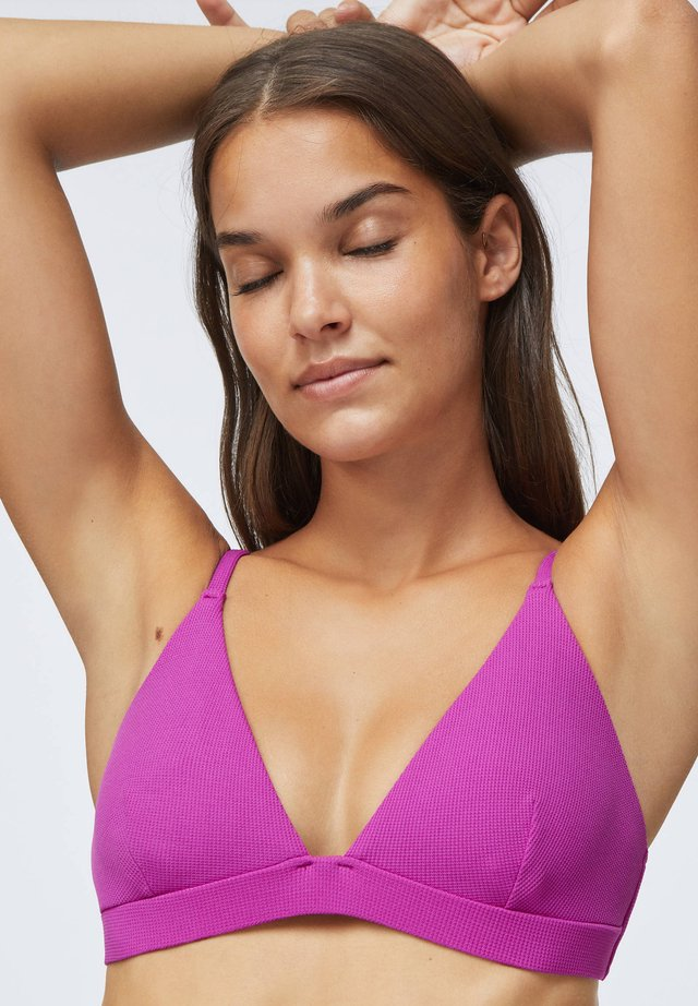 STRUCTURED - Bikini top - mauve