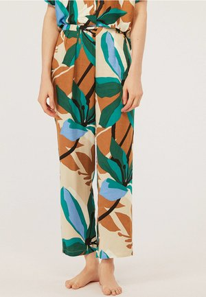 MIT SMARAGDGRÜNEN BLUMEN - Pantaloni del pigiama - multi-coloured