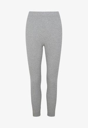 MIT RIPPDETAILS - Pyjama bottoms - light grey