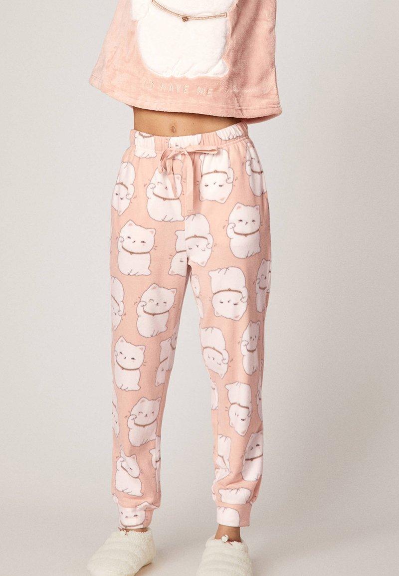 OYSHO - LUCKY CAT - Pantaloni del pigiama - rose