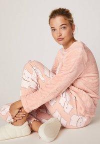 OYSHO - LUCKY CAT - Pantaloni del pigiama - rose - 4