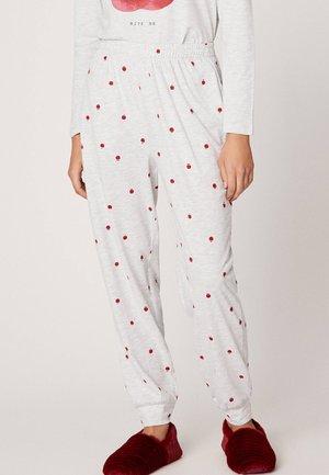 MIT APFELPRINT  - Spodnie od piżamy - light grey