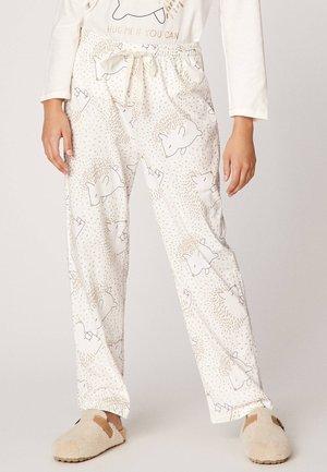 MIT IGELPRINT  - Spodnie od piżamy - white