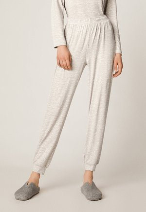 MIT PÜNKTCHEN - Pantaloni del pigiama - light gray