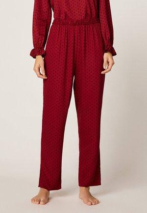 MIT PUNKTEN - Pyjama bottoms - red