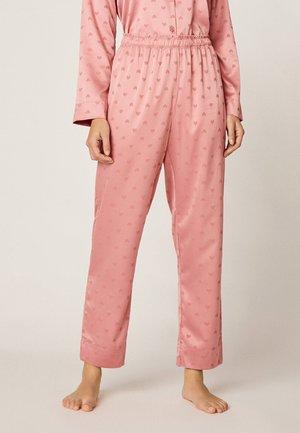 MIT HERZCHENPRINT - Pyjama bottoms - rose