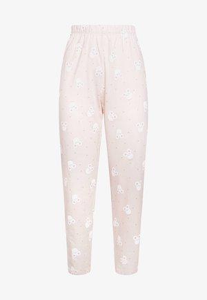 MIT MÄUSEN UND HERZCHEN - Pyjamasbyxor - rose