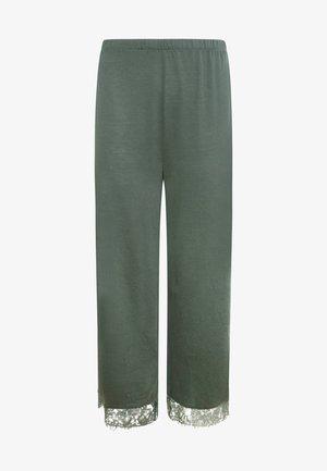 MIT SPITZE - Pyjama bottoms - green