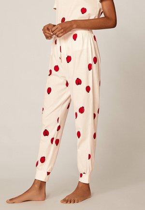 MIT MARIENKÄFERPRINT - Bas de pyjama - white