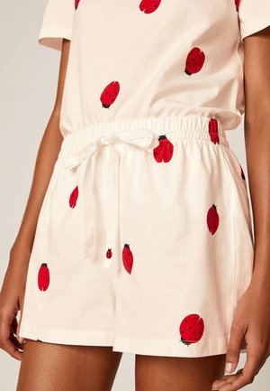 MIT MARIENKÄFERPRINT - Spodnie od piżamy - white