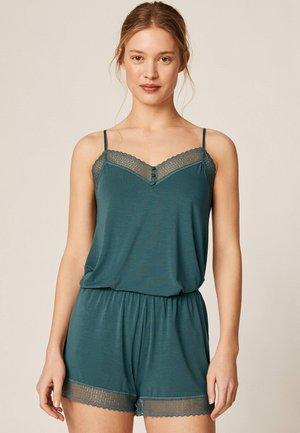 SHORTS IM DESSOUS-LOOK MIT GEOMETRISCHER SPITZE 30102697 - Pantaloni del pigiama - turquoise