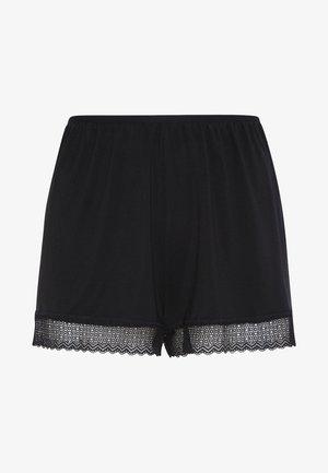 SHORTS IM DESSOUS-LOOK MIT GEOMETRISCHER SPITZE 30102697 - Spodnie od piżamy - black