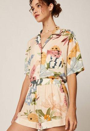 MIT SCHMETTERLINGEN - Spodnie od piżamy - beige
