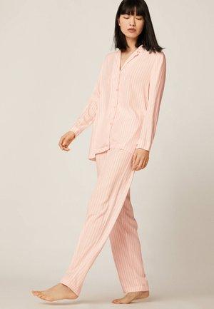 HOSE MIT ROSA STREIFEN 30310168 - Pyžamový top - rose