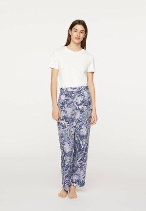 MIT PAISLEY-PRINT - Pyjamabroek - light blue
