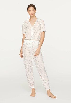 MIT FARBENEN BLUMEN  - Pantaloni del pigiama - white